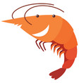 Shrimp with happy face vector image
