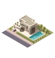 isometric modern house vector image