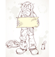 beggar with a sign vector image vector image