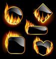 flaming frames vector image vector image