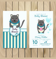 baby shower invitation template with hand vector image