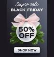 banner black friday sale flyer template vector image