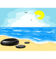 beach and the sky vector image