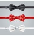 Bow Ties Realistic Set vector image