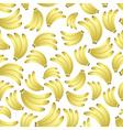 colorful yellow bananas fruits seamless pattern vector image