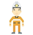 Confident miner in hardhat vector image