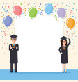 graduation students celebration vector image