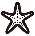 isolated seastar outline vector image