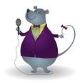 rat singer vector image