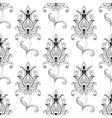 Repeat seamless pattern of persian floral motifs vector image