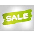 Sale on green brush style stain isolated on gray vector image