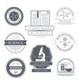 Science set label template of emblem element for vector image