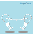 Tug of war vector image