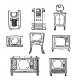 Vintage tv set vector image