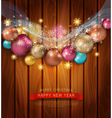 Christmas template with Christmas balls vector image vector image