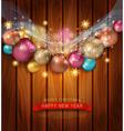 Christmas template with Christmas balls vector image