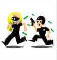 police vs thief vector image