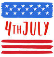 4th of july vector image