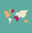 abstract world map geometric concept vector image vector image