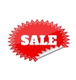 Red seals sticker with sale text vector image vector image