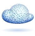binary cloud vector image vector image