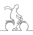 man on bike vector image vector image