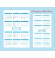 templates for calendars pocket calendars and vector image