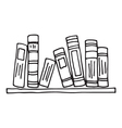 Books on the shelf isolated vector image vector image