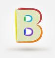 Alphabet letter B Watercolor paint design element vector image