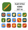 bread set icons in flat style big collection vector image