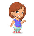 cartoon cute girl vector image