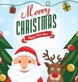Cute christmas card 2 vector image