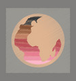 flat shading style icon earth gays symbol vector image
