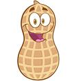 Peanut Cartoon Mascot Character vector image