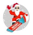 Santa Claus snowboarding jumping vector image