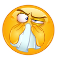 Wiping nose emoticon vector image