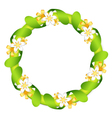 Floral garland isolated on white vector image