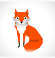 cartoon fox isolated on white background vector image vector image