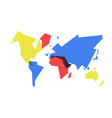 colorful world map abstract geometry vector image vector image