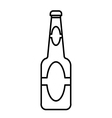 Beer bottle outline vector image