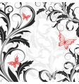 background with flowers and butterflies vector image vector image