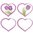 grunge hearts for valentines or for wedding day vector image