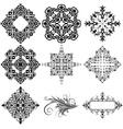 Set of 9 Ornamental Design Elements vector image