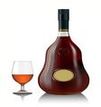 Cognac bottle vector image vector image