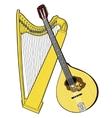 Irish National Musical Instruments Celtic Harp vector image