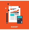 budget vector image