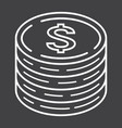 coins of dollar line icon business and finance vector image