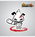 halloween evil dog puppy voodoo doll pop art vector image