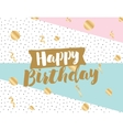 Happy Birthday text vector image
