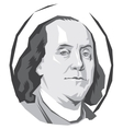 portrait Benjamin Franklin vector image